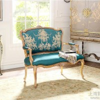 定制\n            美式实木双人沙发椅 欧式新古典复古做旧沙发 法式布艺沙发地中海