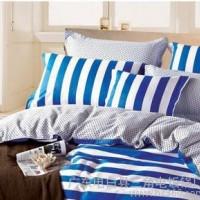 小绵羊家纺 纯棉四件套 条纹全棉彩色床单被套床上用品4件套特