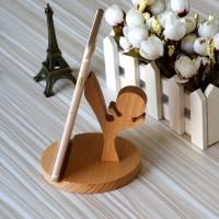 广州 木质可爱小马手机支架 创意多功能工艺底座 ** 出口西班牙