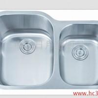 供应厂家供应台下盆单槽SUS304-D8252R北美不锈钢水槽 洗涤槽一体拉伸